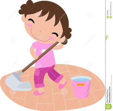 Cleaning Girl Stock Vector Illustration Of Girl, Work