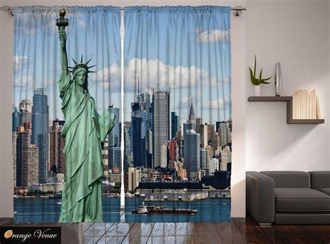 Classroom 4th July Statue Liberty New York Manhattan Americana Curtain 2 Panels Curtains Over Front Door Eyelet Argos 102 Inch Grommet Curtain Panels Black And White Dunelm Wires How Much Fabric For Double Pinch Pleat To Make Your Own At Home