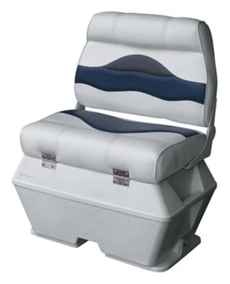 wise premium pontoon boat captains seat with cooler