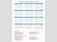 Calendario México Año 2018 Feriados