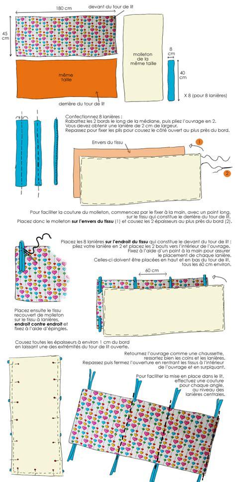 en dessin confectionnez un tour de lit pour votre enfant tour de lit deco fr et tour