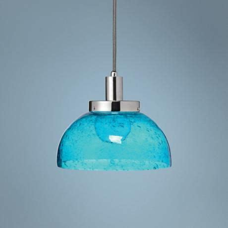 aqua glass pendant light 10 quot wide aqua glass bowl pendant light