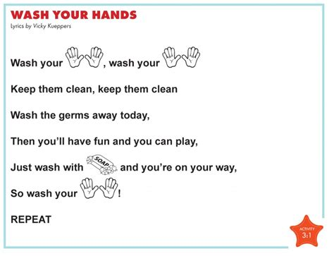 Wash Wash Wash Your Hands Song To Row Row Row Your Boat Lyrics by Health Routines Skills Cd Circle Of Education
