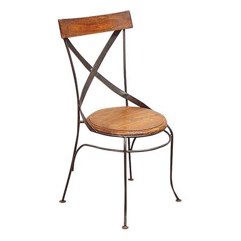 chaise bistrot en fer forg 233 et palissandre meuble r 233 tro