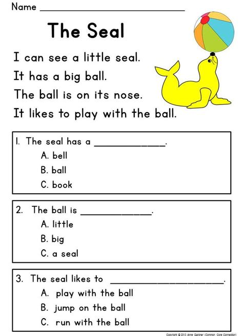 25+ Best Ideas About Free Reading Comprehension Worksheets On Pinterest Comprehension