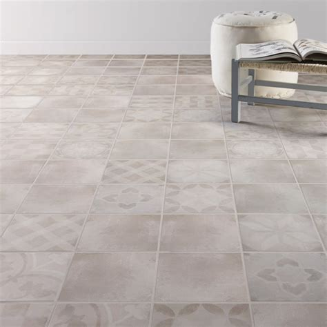 carrelage sol et mur gris effet ciment bistro l 20 x l 20 cm leroy merlin