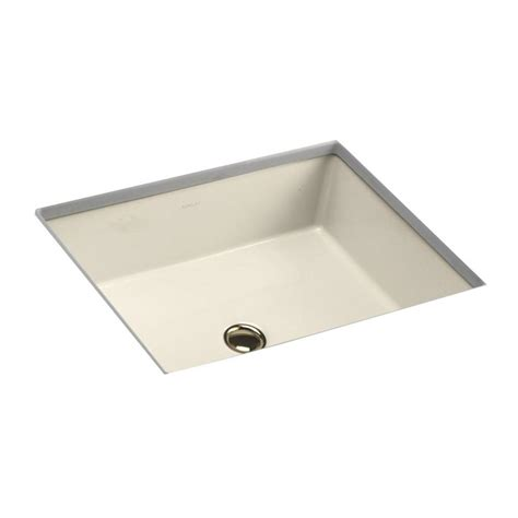 kohler caxton vitreous china undermount bathroom sink in almond with overflow drain k 2211 47