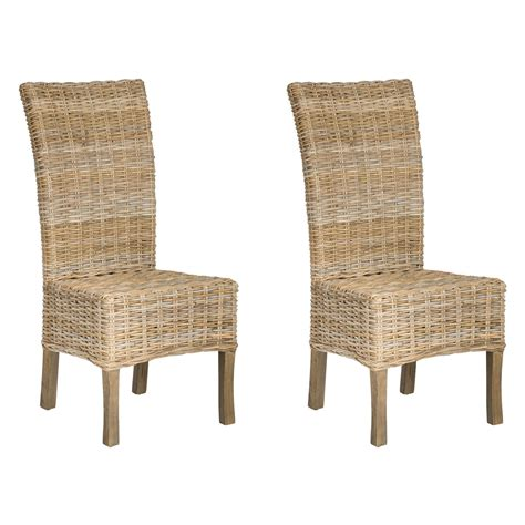 safavieh quaker wicker dining side chairs set of 2