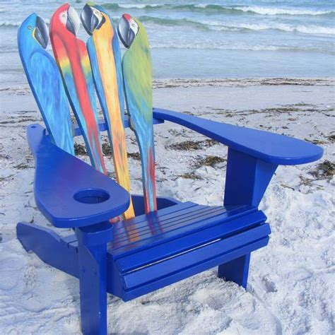 Margaritaville Adirondack Chair Parrot by Custom Adirondack Chair Parrot Design By Island Time