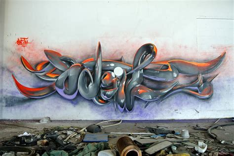 incredibly bad 3d graffiti murals by odeith