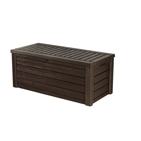 keter westwood 150 gallon resin deck box reviews wayfair