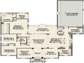 open one story house plans one story house plans with one story open concept house plans