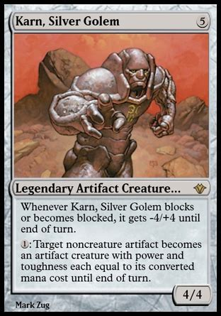 karn silver golem artifact beatdown and
