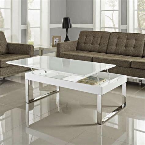 Beau Table Basse Laqué Blanc  Décoration Française