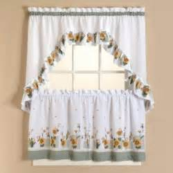 Sears Rooster Kitchen Curtains Image Sunflower Kitchen Curtains Tier Set