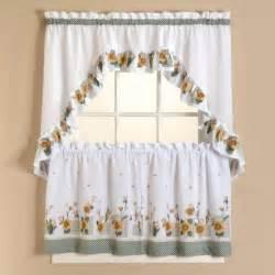 image sunflower kitchen curtains tier set