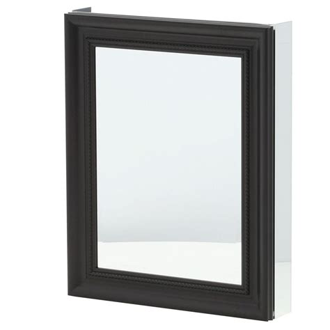 pegasus 24 in x 30 in framed recessed or surface mount bathroom medicine cabinet in espresso