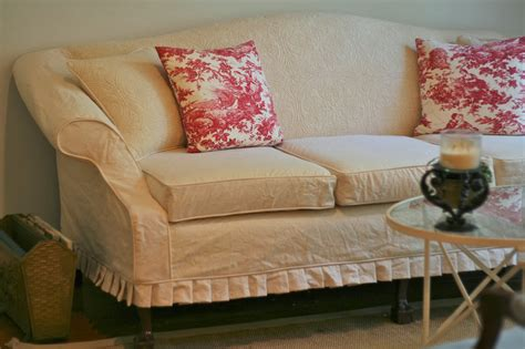 14 camelback sofa slipcover pattern white denim