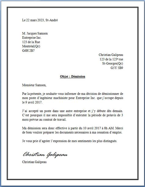 lettre type de d 233 mission lettreded 233 mission org