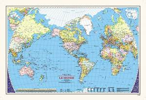 """Le Monde Can. Gov. 33""""x48"""" FRENCH - A world map, produced ..."""