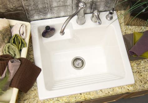 utility sink laundry tub with washboard microban