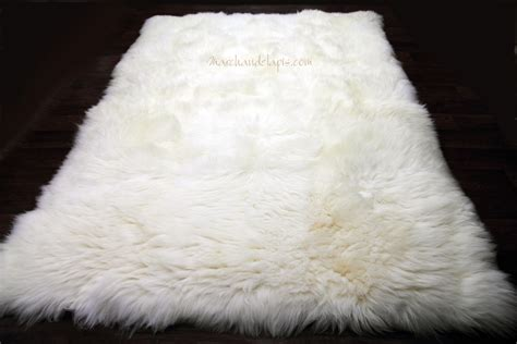 tapis peau de mouton 170cmx230cm blanc naturel uk rectangle tapis de forme rectangulaire