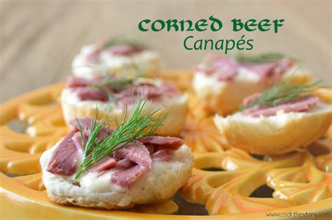 healthy corned beef canapes around my family table