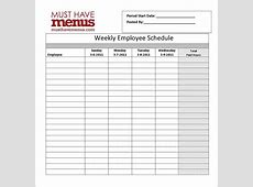 Restaurant Schedule Template 11+ Free Excel, Word