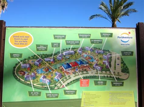 property map photo de portaventura hotel caribe salou tripadvisor