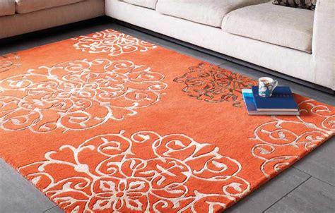 tapis haut de gamme orange tangier par joseph lebon