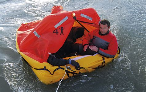 Small Boat Life Raft by Six Iso 9650 Liferafts Tested