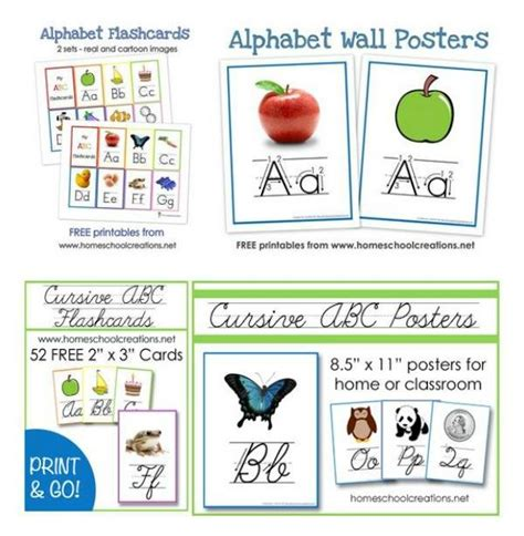Free Print And Cursive Alphabet Flashcards And Posters  Free Homeschool Deals