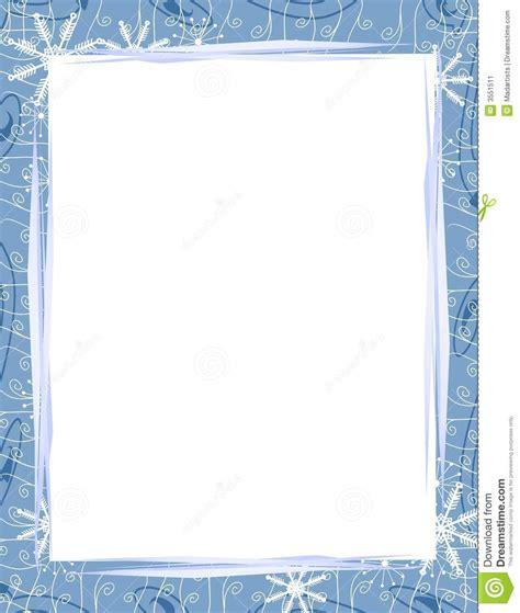 cadre bleu 2 de flocons de neige de no 235 l illustration stock image 3551511