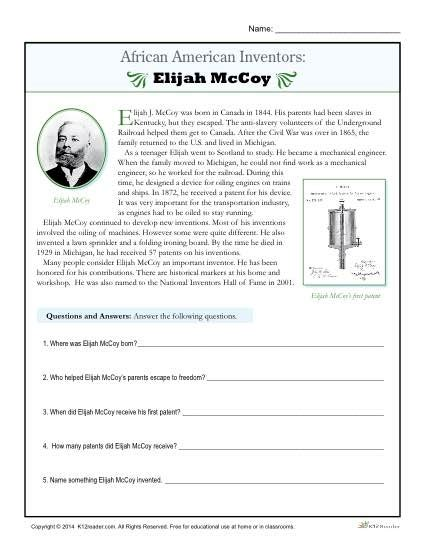 African American History Worksheets Worksheets For All  Download And Share Worksheets  Free On