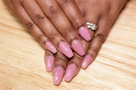 Pink Nude Acrylic Nails