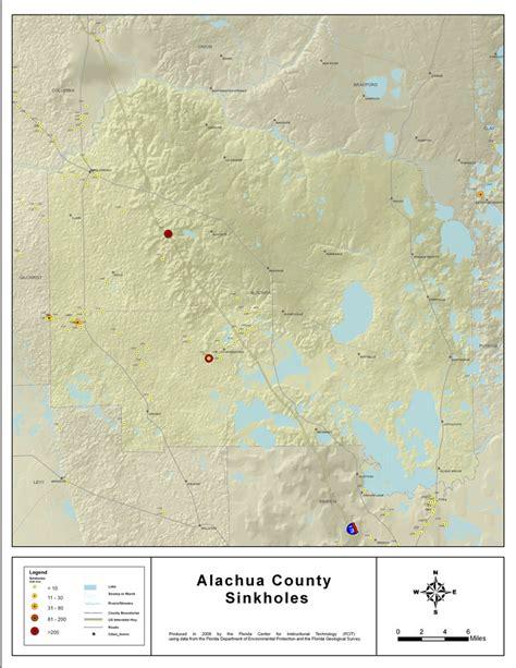 sinkholes of alachua county florida 2008