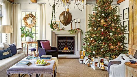 Our Favorite Living Rooms Decorated For Christmas Bar Style Dining Room Sets Contemporary Italian Furniture Iron Set Ideas For Small Rooms Cheap Sale Kitchen With Designs The National And Cherry Wood