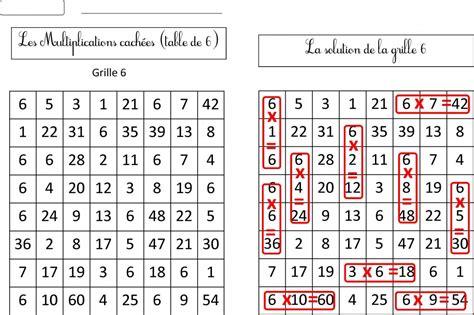 nouvelles grilles multiplications cach 233 es tables 6 7 8 9 de monsieur mathieu gs cp ce1