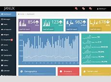 JANUX – Free Responsive Admin Dashboard Template