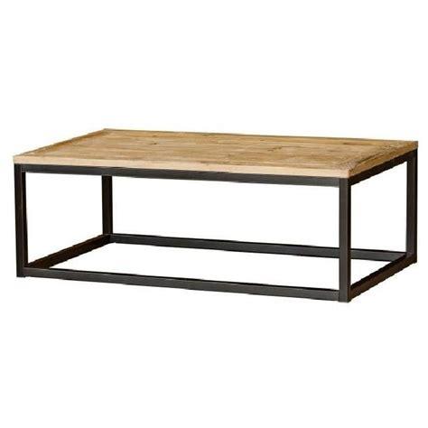 table basse bois et m 233 tal masao achat vente table basse table basse bois et m 233 tal m cdiscount