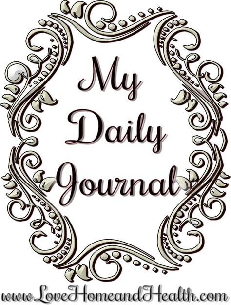 One Moment In Time  My Daily Journal  Love, Home And Health