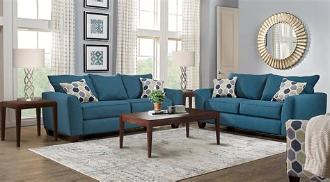 Bonita Springs Blue 7 Pc Living Room How To Design Modern Living Room Contemporary Sectional Furniture Our Cozy Tv Images With Two Entrances Cheap Swivel Chairs Cafe Curtains In Paris Combo Youtube