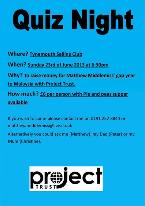 The Boat Quiz Night by Quiz Night Tynemouth Sailing Club
