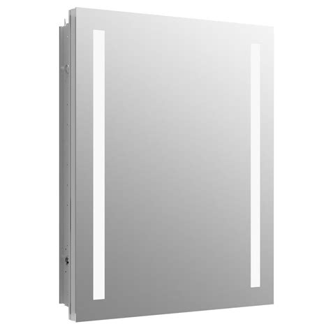 kohler verdera 24 in w x 30 in h recessed or surface mount lighted medicine cabinet 99007 tl