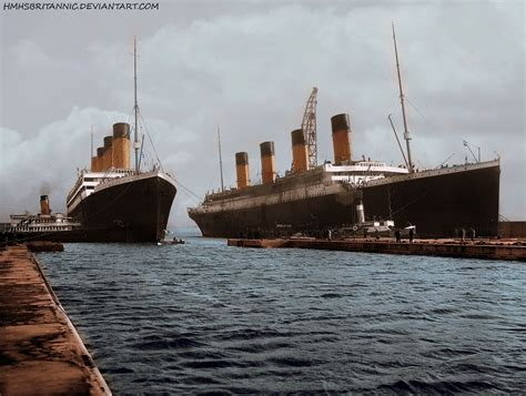 rms olympic and rms titanic by hmhsbritannic on deviantart
