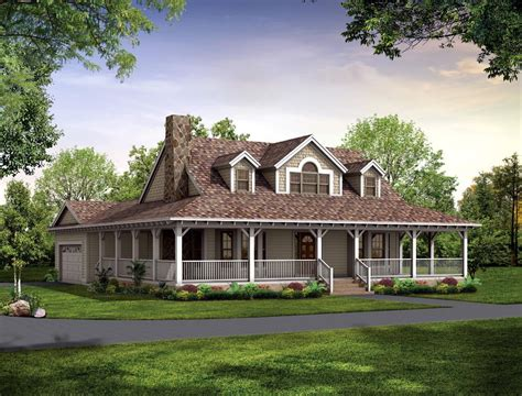 Country House : Country Farmhouse Plans With Wrap Around Porch