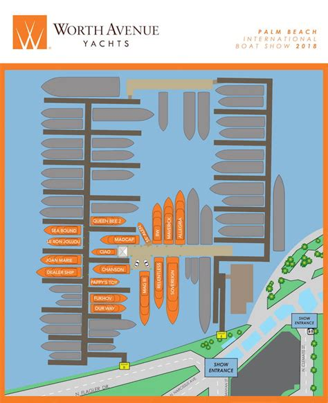 Palm Beach International Boat Show Map by Palm Beach Boat Show Boat Show Map Worth Avenue Yacht