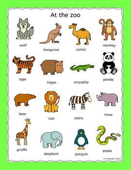 Zoo Animals Puzzles Pack For A Zoo Topic Or Efl Esl Eal  Kids  Pinterest  Word Search Puzzles