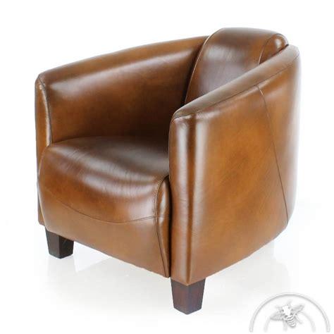fauteuil club cuir marron vintage op 233 ra saulaie