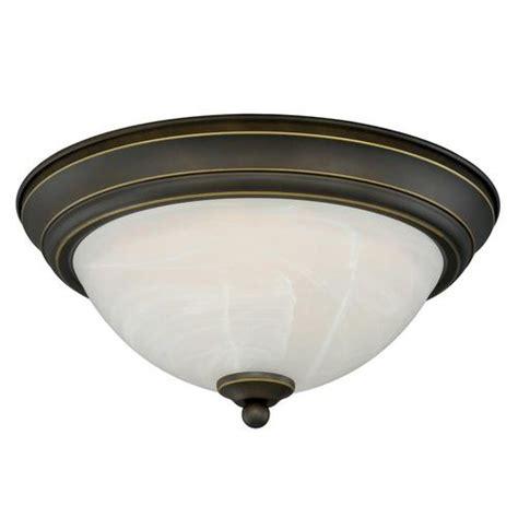 payton led 13 quot rubbed bronze ceiling light at menards 174